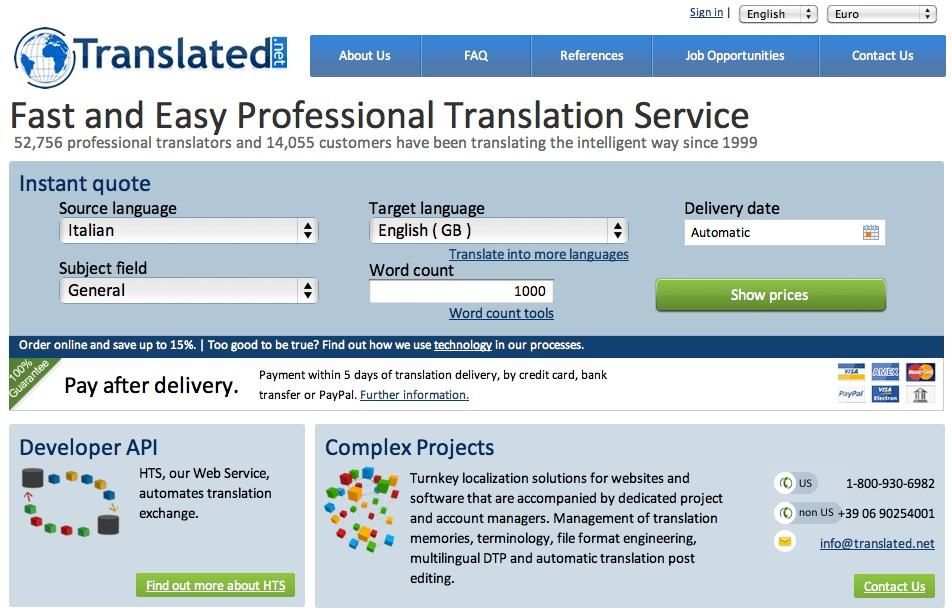 Guadagno con le traduzioni online