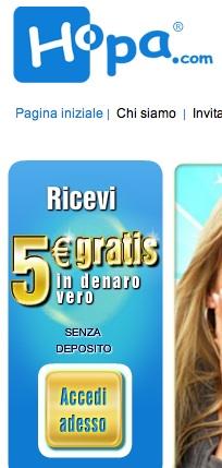 5 euro senza deposito