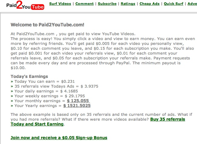 Guadagno con YouTube – pagato per vedere i video – Guadagno online