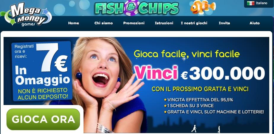 Vinci online soldi con MegaMoneyGames – 7 euro gratis